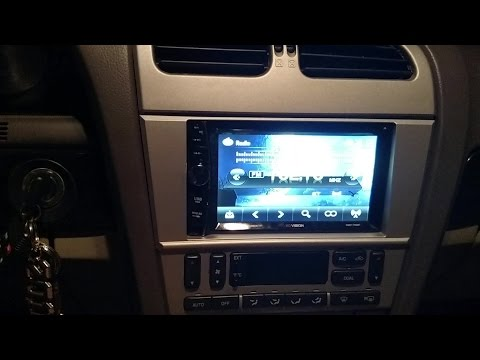 Review and usage of the XO Vision double din radio, with factory speakers and kicker 12s