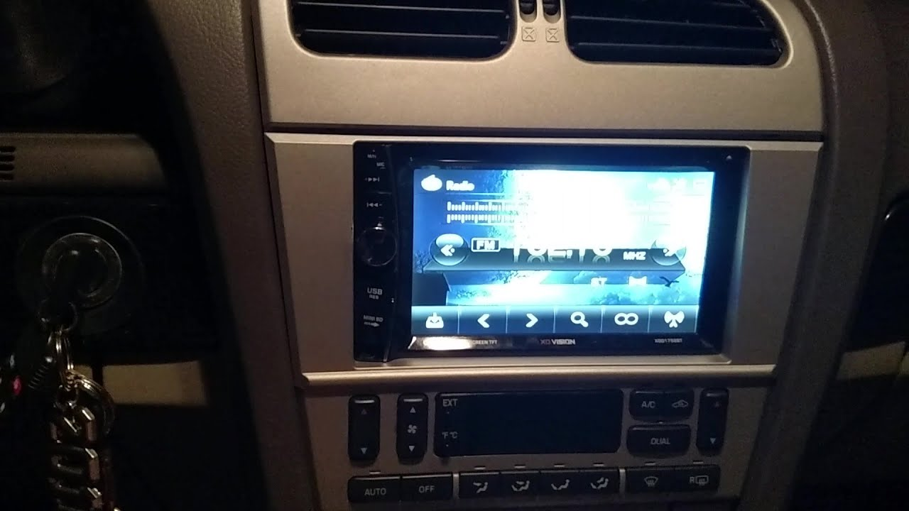 review and usage of the xo vision double din radio with factory speakers and kicker 12s [ 1280 x 720 Pixel ]