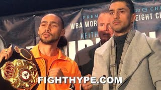 KEITH THURMAN VS. JOSESITO LOPEZ FULL FINAL PRESS CONFERENCE AND FACE OFF