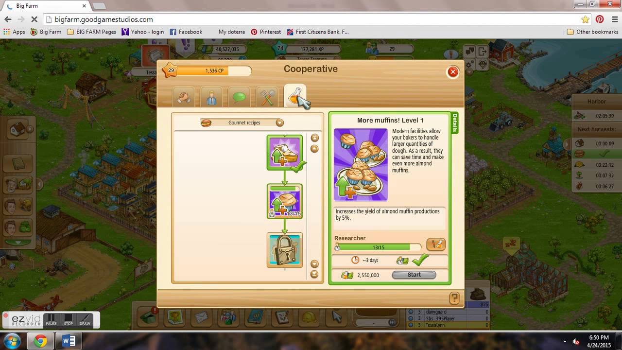 Basic overview of Cooperative screen on Big Farm - YouTube