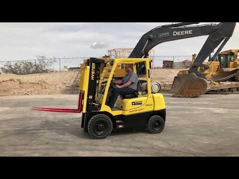Hyster 50XT Straight Mast Forklift