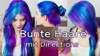 Haare LILA BLAU TÜRKIS färben mit Directions | Schruppert