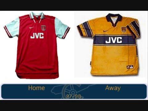 buy online 4118b 842b5 Arsenal all kits (from 1960 till 2008)