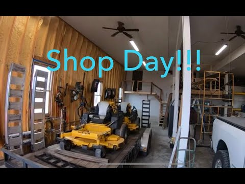 day-in-the-life-shop-vlog,-mower-problems,-washing-and-working-on-one-of-the-trailers!