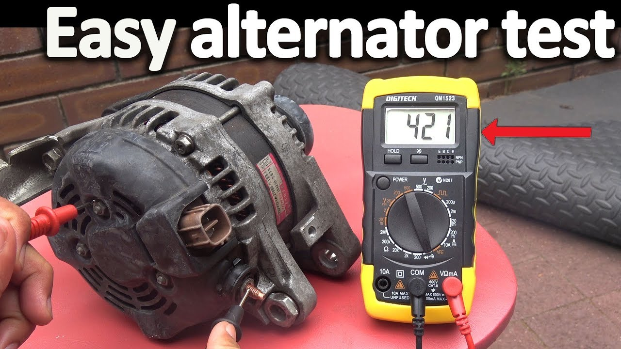 How to Test an Alternator ( Testing the Voltage Regulator, Diode rectifier and Stator)  YouTube