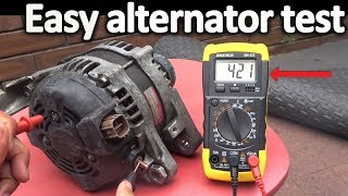 How to Test an Alternator  ( Testing the Voltage Regulator, Diode rectifier and Stator)