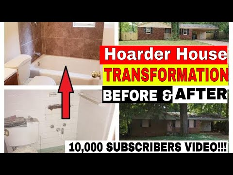 FINALLY!  BEFORE & AFTER HOARDER HOUSE REHAB!  THANK YOU FOR 10,000 SUBS!