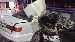 24-летний лихач уходя от погони врезался в Камаз Дтп в Иркутске видео