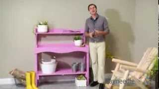 Prairie Leisure Backyard Buffet And Potting Bench With Wheels - Purple - Product Review Video