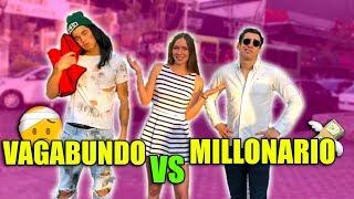 EXPERIMENTO SOCIAL: VAGABUNDO VS MILLONARIO | ¿Quien liga mas?