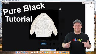 How to Make a Pure BLACK Background for White items