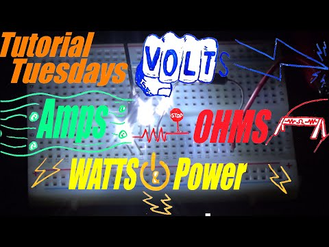 Tutorial Tuesdays: Volts, Ohms, Amps, and Watts