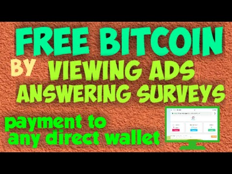 FREE BITCOIN BY VIEWING ADS And ANSWERING SURVEYS | COINPAYU |