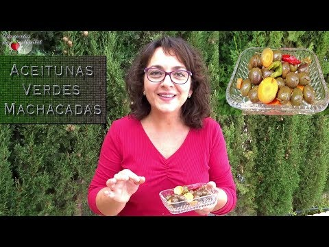 Aceitunas Verdes Machacadas