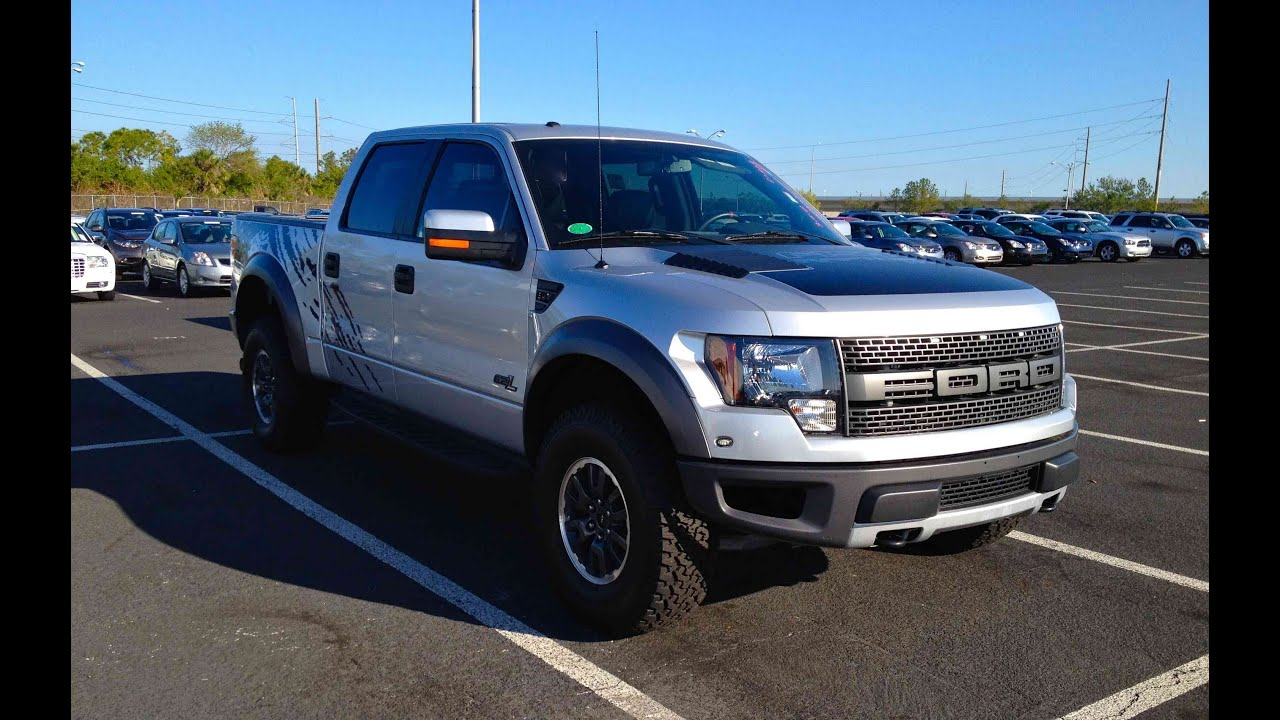 2011 ford f 150 svt raptor 4x4 6 2l v8 start up rev with. Black Bedroom Furniture Sets. Home Design Ideas
