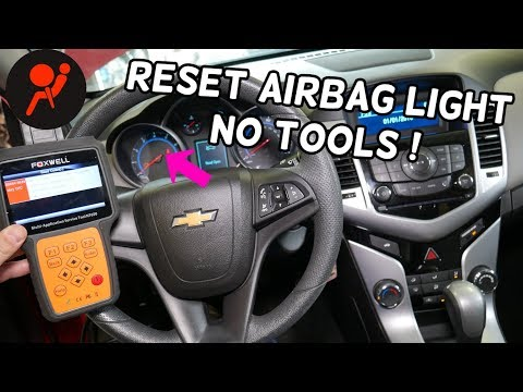 HOW TO RESET AIRBAG LIGHT ON CHEVROLET CRUZE OR CHEVY SONIC