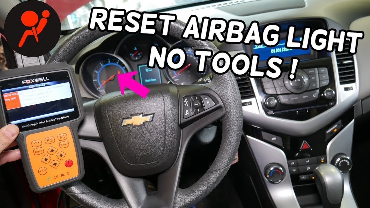 How To Reset Airbag Light On Chevrolet Cruze Or Chevy Sonic Youtube