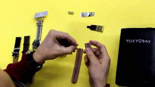 Eric changing strap on tokyobay DIY Watch.MOV