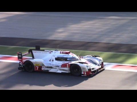 330km/h 2015 Audi R18 E-Tron Quattro LMP1 Le Mans Kit @ Monza Circuit!