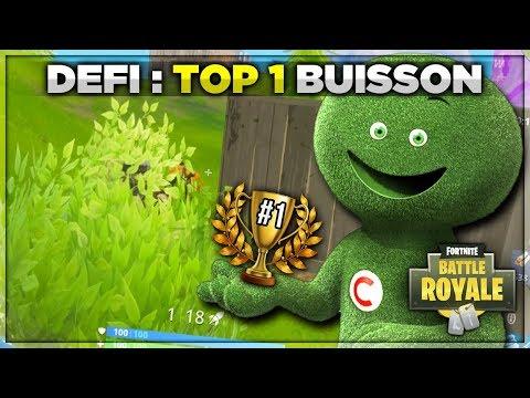 DÉFI : TOP 1 BUISSON (Fortnite Battle Royale)