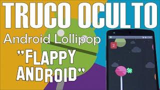 """Truco Oculto en Android Lollipop: Cómo desbloquear juego """"Flappy Android"""""""
