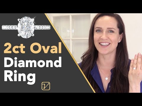 Oval Diamond Engagement Rings  | 2 Carat Oval Engagement Ring That WOWS!