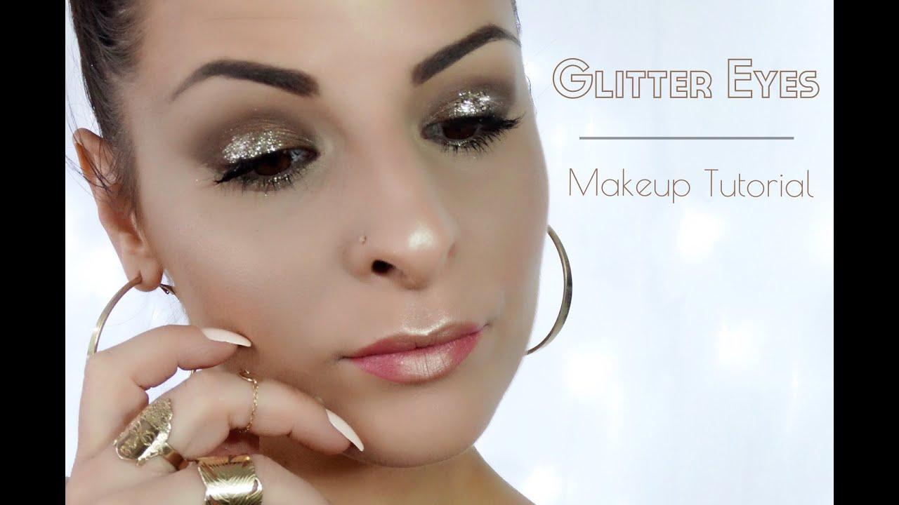 Populaire Glitter Eyes Makeup Tutorial - Tuto Makeup Soirée Simple - Urban  DQ02
