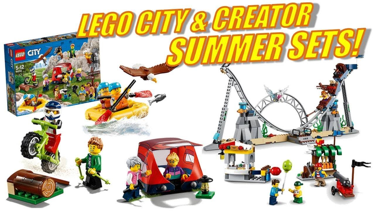 wow lego city creator summer sets 2018 youtube. Black Bedroom Furniture Sets. Home Design Ideas