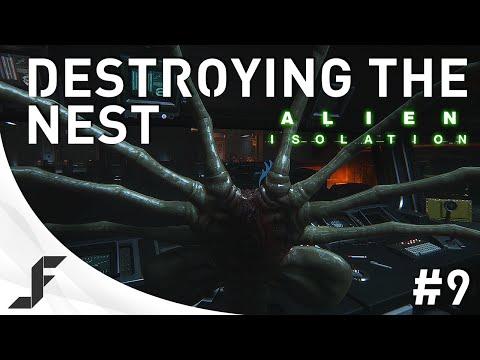 Alien Isolation Walkthrough Part 9 - Destroying the Nest
