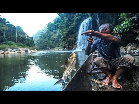 Nelayan pedalaman Aceh sangat tangguh di sungai besar | tangkap ikan dengan umpan buah sawit, part 1