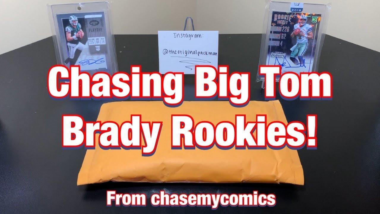 6 Packs From Chasemycomics Tom Brady Rookie Chase Hunting Big Brady Rookies