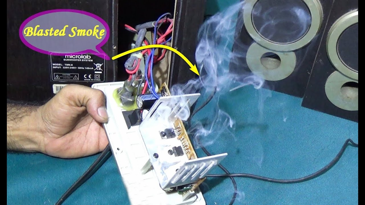 how to repair home theater subwoofer step by step bengali tutorial [ 1280 x 720 Pixel ]
