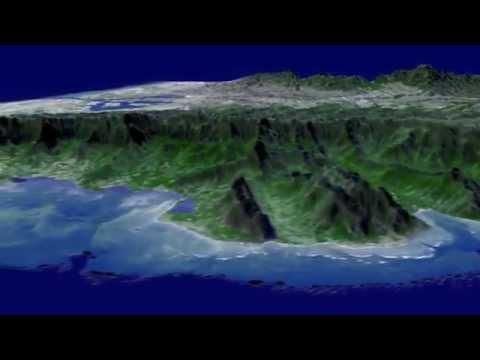 Vuelo En 3D Sobre Los Cielos De La Isla De Oahu, Hawaii