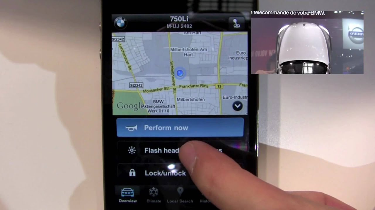 BMW Remote App for iPhone Demo