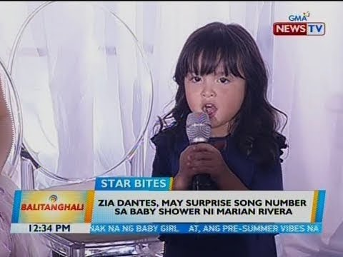 BT: Zia Dantes, may surprise song number sa baby shower ni Marian Rivera - 동영상