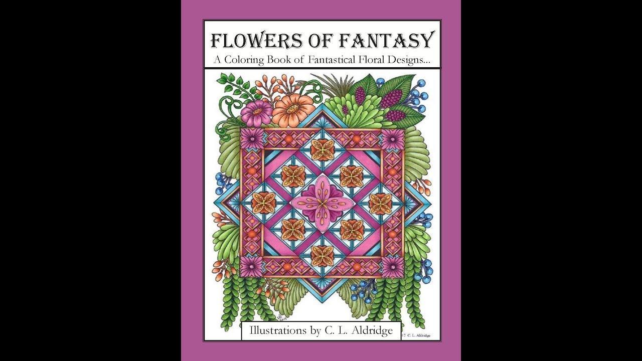 Flowers Of Fantasy A Coloring Book Fantastical Flower Designs Vases Poetry
