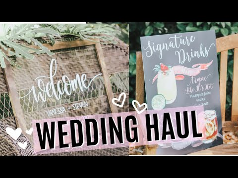 ETSY WEDDING HAUL! | RUSTIC WEDDING DECOR HAUL | BRIDESMAID GIFT IDEAS