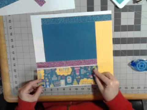 1/26/15 Confetti Wishes 8 page layout class- Part 2:base pag