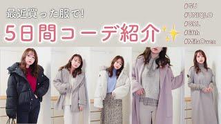 【5日間コーデ】最近買った服でコーディネート👗UNIQLOやGUも多数!【購入品紹介】