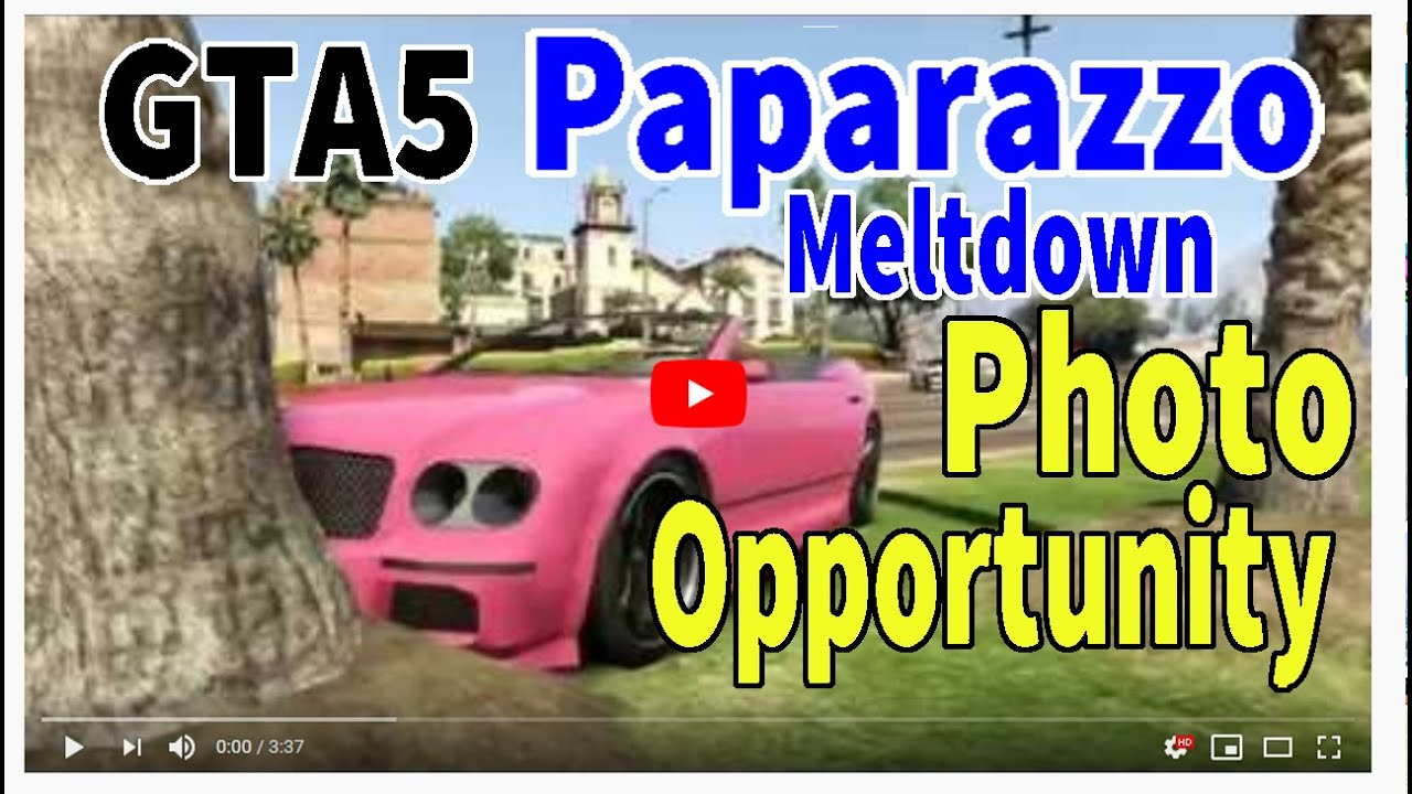 Grand Theft Auto  Gta Paparazzo The Meltdownphoto Opportunity  Gold Achievement Youtube