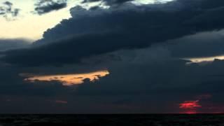 Закат на берегу Азовского моря, б.о. Казачий берег