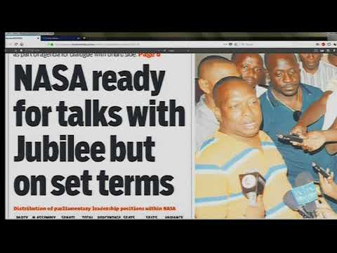 Power Breakfast News Review : NASA ready for talks with Jubilee but set terms