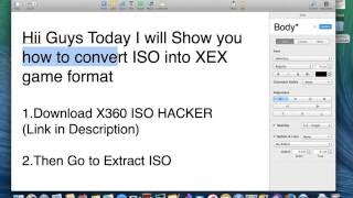 How To Convert ISO To XEX JTAG XBOX (Mac)