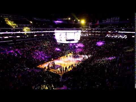 LA LAKERS 2014  Kobe Bryant Comeback Intro Staples Center Los Angeles