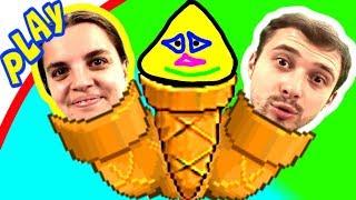 БолтушкА и ПРоХоДиМеЦ попали в СЛОЖНЫЕ ЛАБИРИНТЫ 34 Игра для Детей   Плохое Мороженое