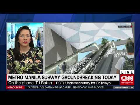 Metro Manila subway groundbreaking today