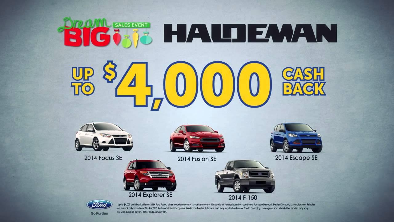 Haldeman Ford Kutztown >> Haldeman Dream Big Sales Event! - YouTube