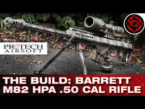 airsoft barrett 50cal m82 sniper rifle hpa build youtube