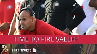 49ers Rumors: Fire Robert Saleh, Sign Colin Kaepernick, Matt Breida Week 8 Inactive & 2019 NFL Draft