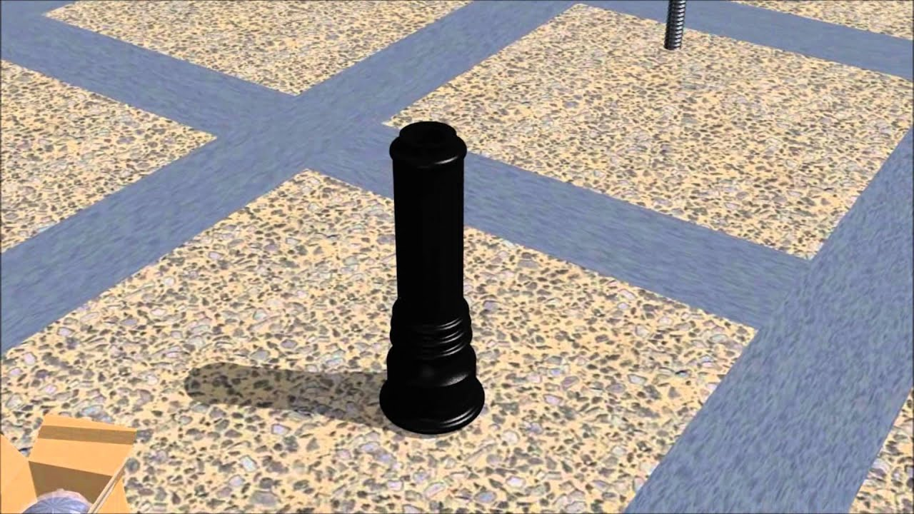 Installing Decorative Bollards With Anchor Castings In New